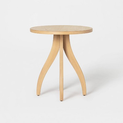 Surfside Round Wood Accent Table with Curved Legs - Threshold™ designed with Studio McGee