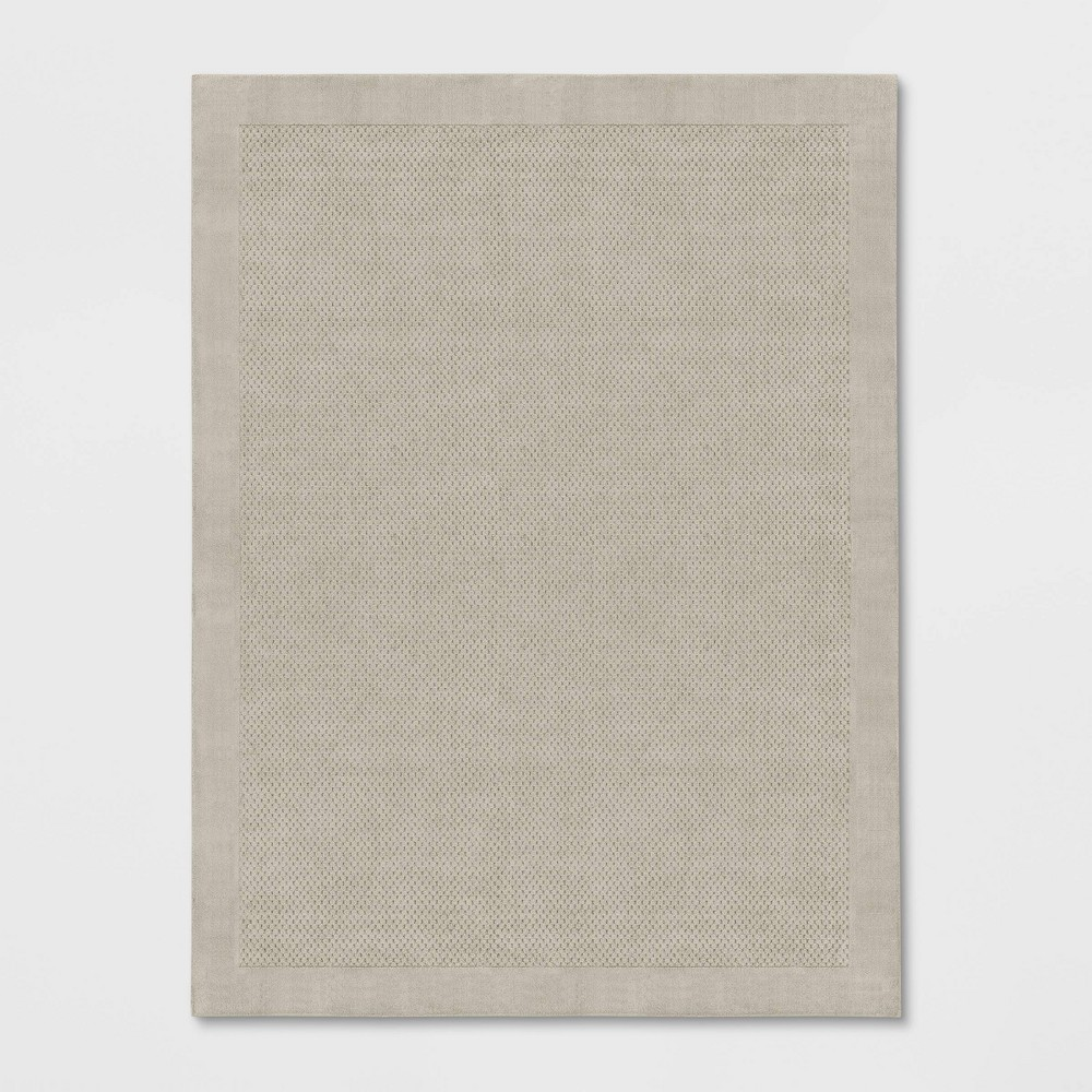Image of 9'X12' Basket Weave Solid Tufted Area Rug Cream - Made By Design