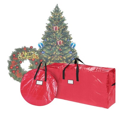 "Storage Combo Christmas Tree Storage Bag & 30"" Wreath Bag Red - Elf Stor"