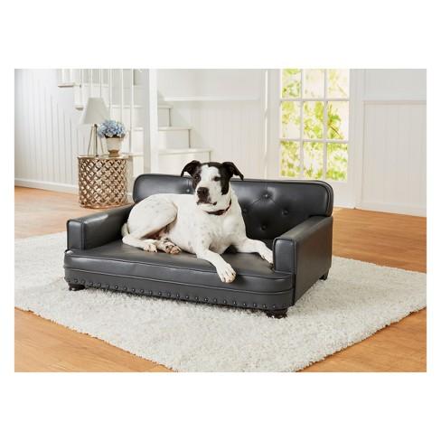 Enchanted Home Pet Library Dog Sofa Grey