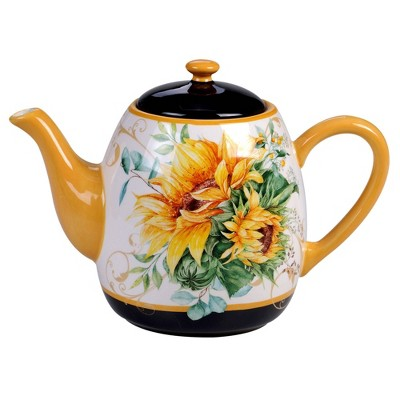 40oz Earthenware Sunflower Fields Teapot - Certified International