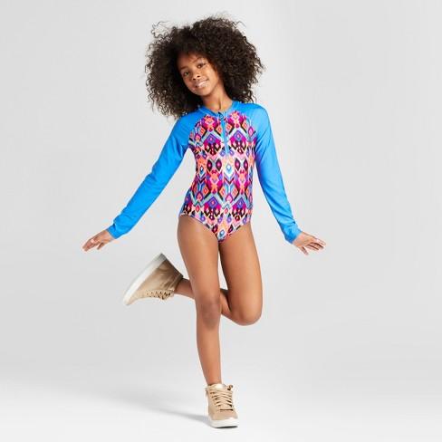fadd5ae8f7caa Girls  Tigerlily One Piece Swimsuit - Art Class™ Blue   Target