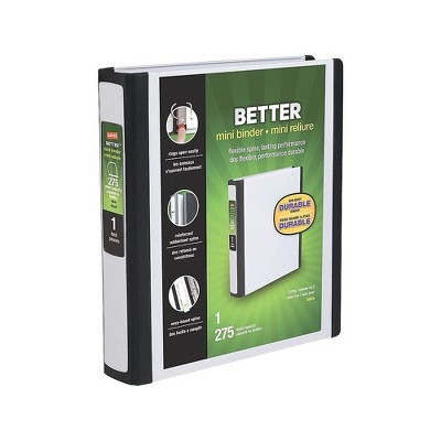 Staples Better Mini 5.5 x 8.5 Inch 3-Ring View Binder White (20949) 55910/20949