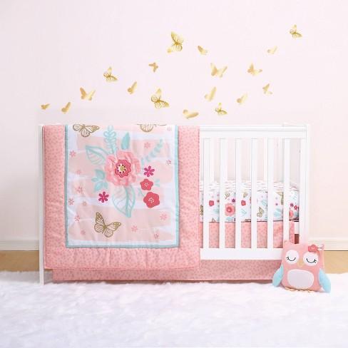 The Peanutshell Little Haven Aflutter 4pc Crib Bedding Set - image 1 of 4