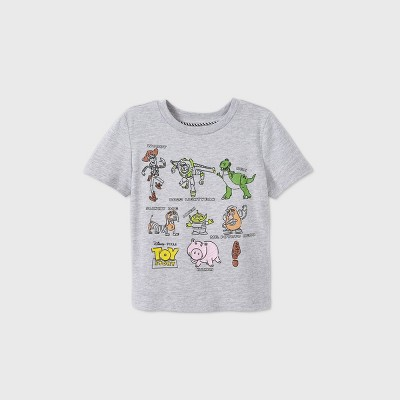 Toddler Boys' Disney Toy Story Short Sleeve Graphic T-Shirt - Gray - Disney Store