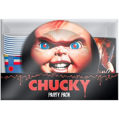 Silver Buffalo Childs Play Chucky 60 Piece Party Tableware Set   Cups   Plates   Napkins