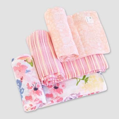 Burt's Bees Baby® Woven Muslin Blankets - 3pk Spring Bouquet