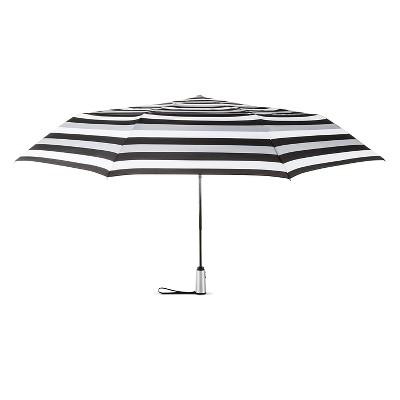 ShedRain Auto Open/Close Air Vent Compact Umbrella - Black Stripe