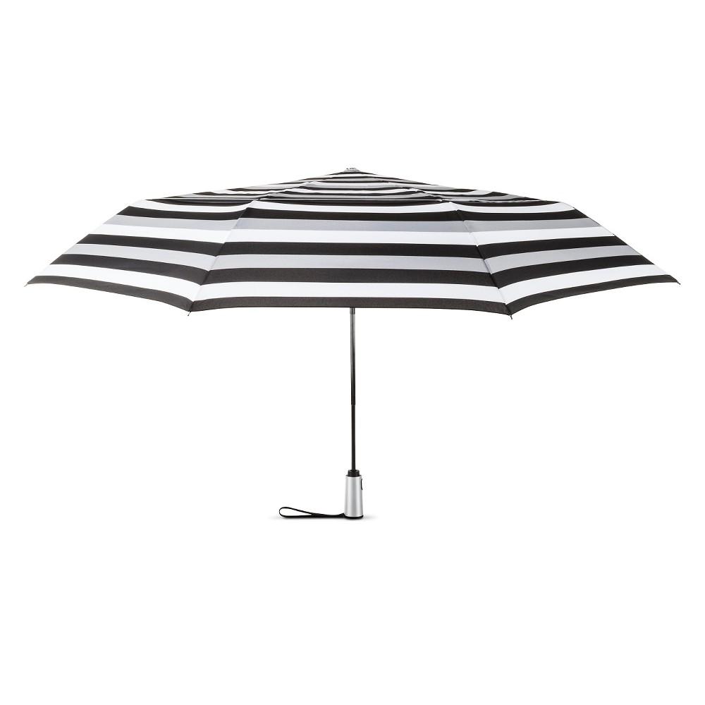 Image of ShedRain Auto Open/Close Air Vent Compact Umbrella - Black Stripe