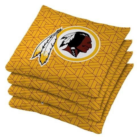 Magnificent Nfl Washington Redskins 4Pk Bean Bag Set Yellow Uwap Interior Chair Design Uwaporg