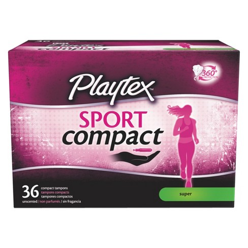 Playtex Sport Compact Tampons - Super - 36ct - image 1 of 3