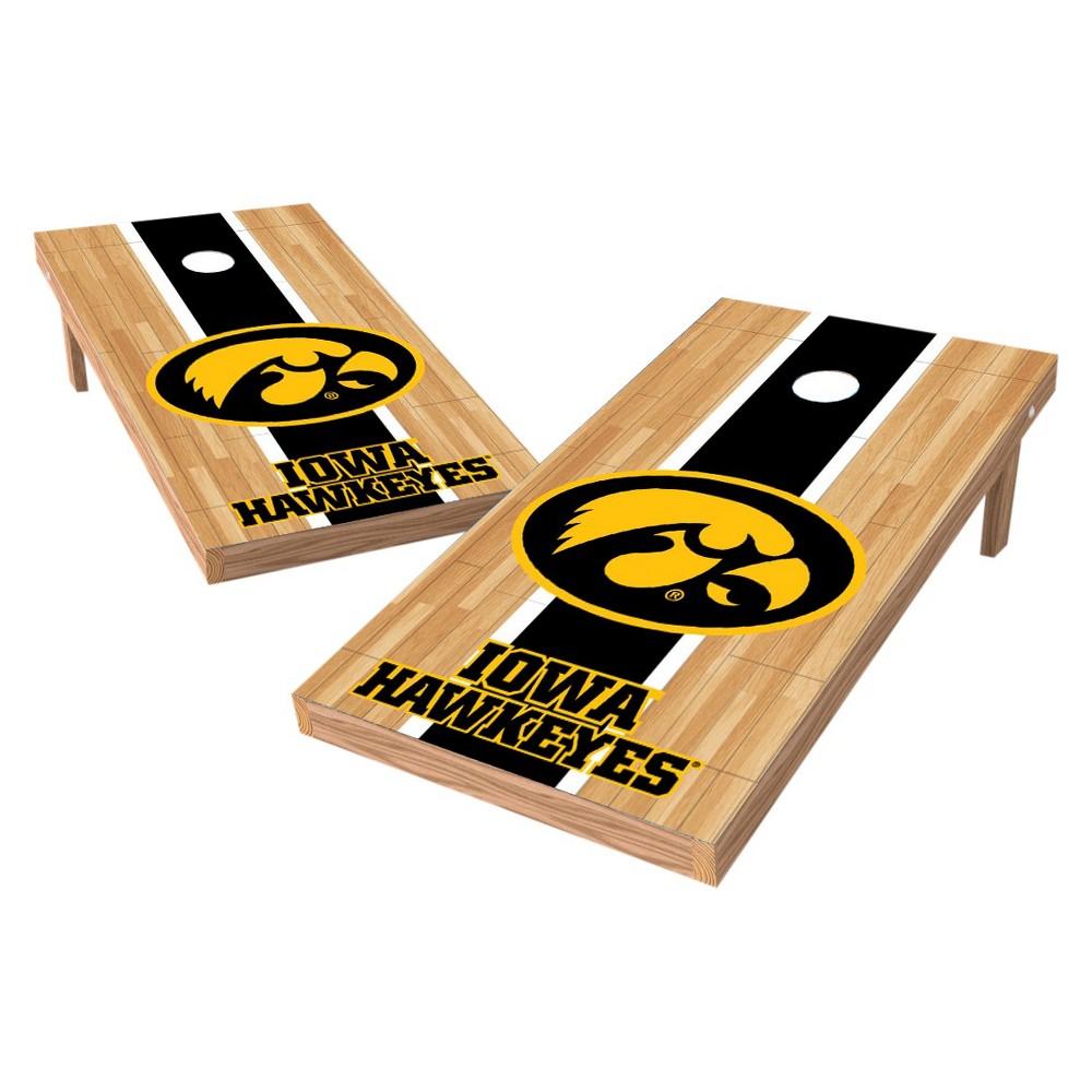 NCAA Wild Sports2' x 4' Heritage Design Authentic Cornhole Set Iowa Hawkeyes