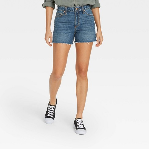 Women's High-Rise Jean Shorts - Universal Thread™ - image 1 of 3