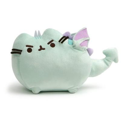 """GUND Pusheen 9"""" Dragonsheen Squeezer Wing Movement Stuffed Cat Dragon - Green"""
