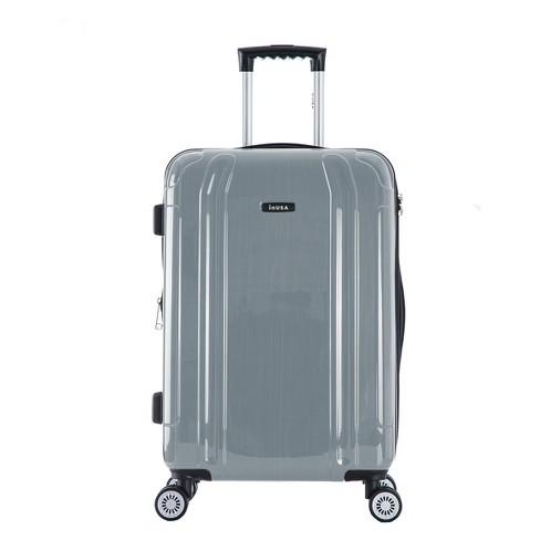 "InUSA SouthWorld 23"" Hardside Spinner Suitcase - Silver Brush - image 1 of 4"