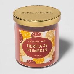 15.1oz Lidded Glass Jar 2-Wick Heritage Pumpkin Candle - Opalhouse™
