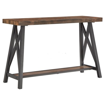 Lanshire Rustic Industrial Metal & Wood Entry Console Table - Inspire Q