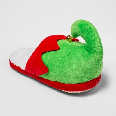 Men's Holiday Elf Slide Slippers - Wondershop™ Green M (9-10)