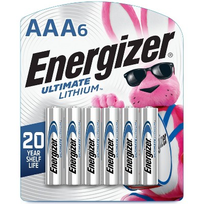 Energizer 6pk Ultimate Lithium AAA Batteries