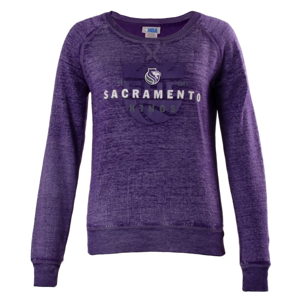 Sacramento Kings Women's Retro Logo Burnout Crew Neck Sweatshirt Xxl, Multicolored