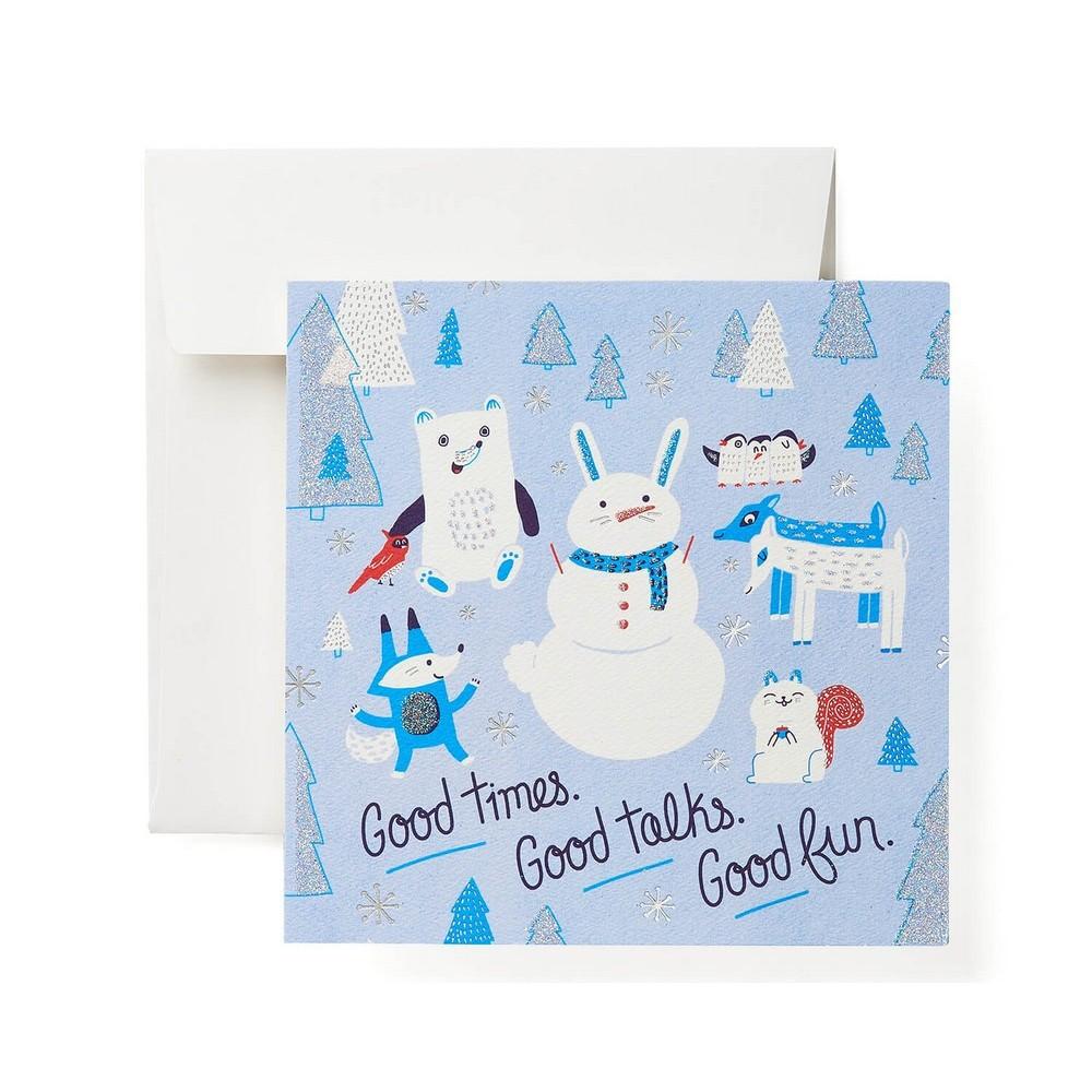 "Image of """"""Good Times, Good Talks, Good Fun"""" Print Card"""