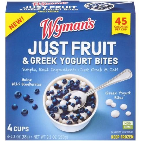 Wyman's Just Fruit Frozen Wild Blueberries and Greek Yogurt Bites - 4ct/9.2oz - image 1 of 3