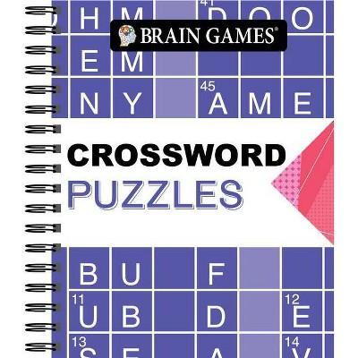 Brain Games - Crossword Puzzles (Arrow) - (Spiral Bound)