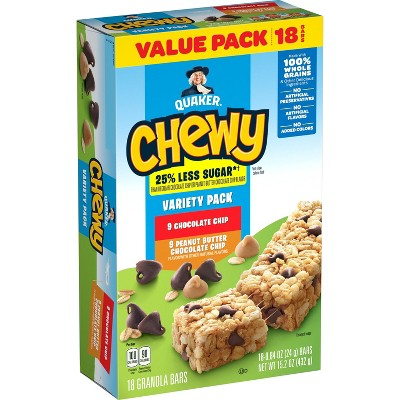 Quaker Chewy Variety Pack Granola Bars - 18ct 15.2oz