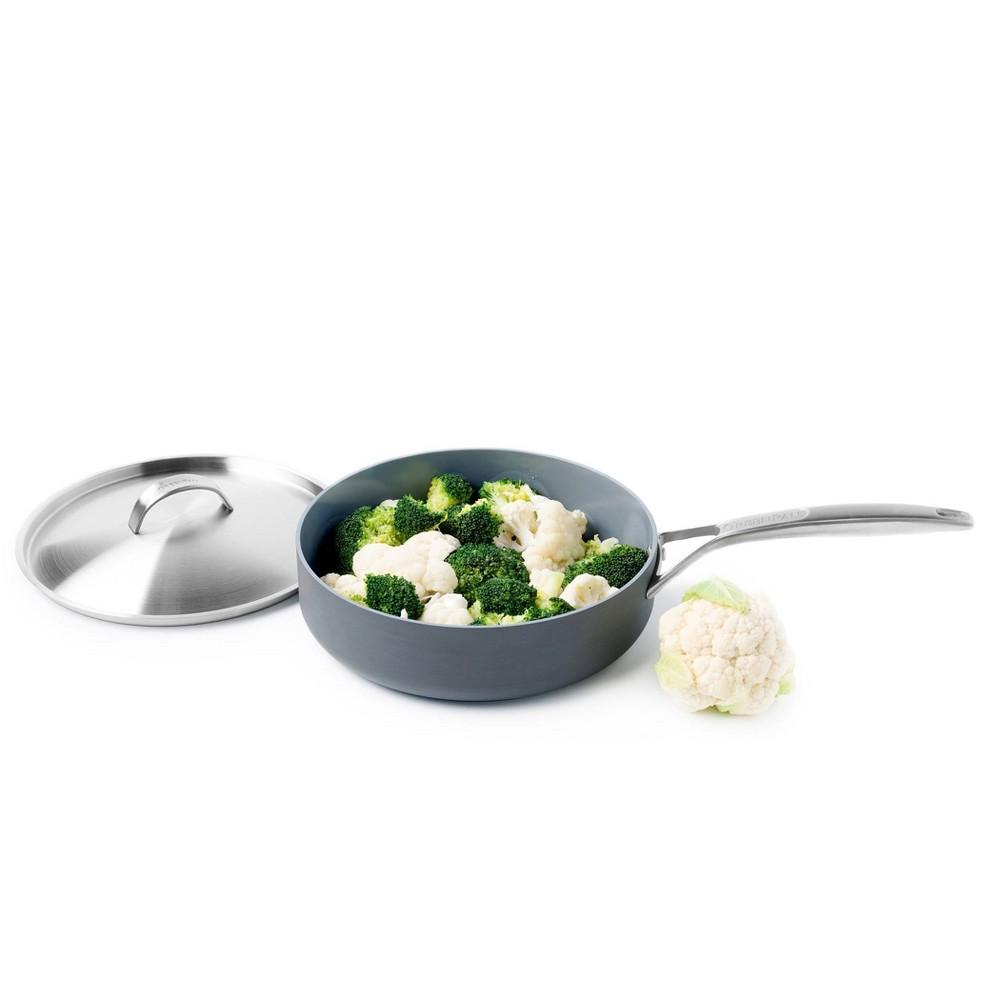 Image of GreenPan Paris 4qt Saute Pan with Lid and Helper Handle