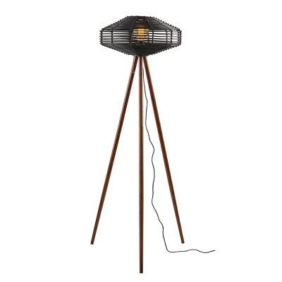 "56.25"" Kingston Floor Lamp Black (Includes Light Bulb) - Adesso"