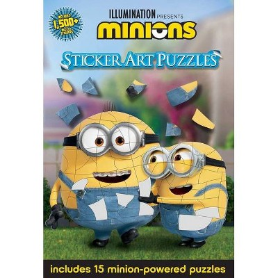 Minions: Sticker Art Puzzles - by  Arie Kaplan (Paperback)