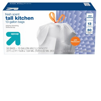 FlexGuard Tall Kitchen Drawstring Trash Bags - Fresh Scent - 13 Gallon - up & up™