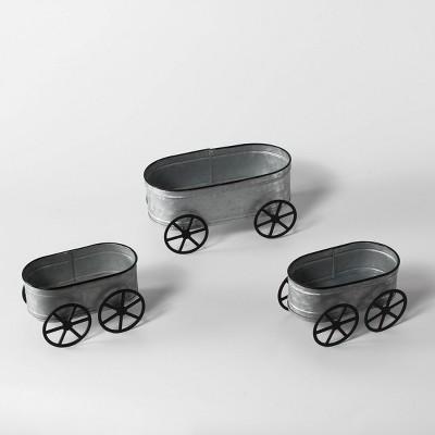 2ct Small Metal Wagons with Large Metal Wagon - Bullseye's Playground™