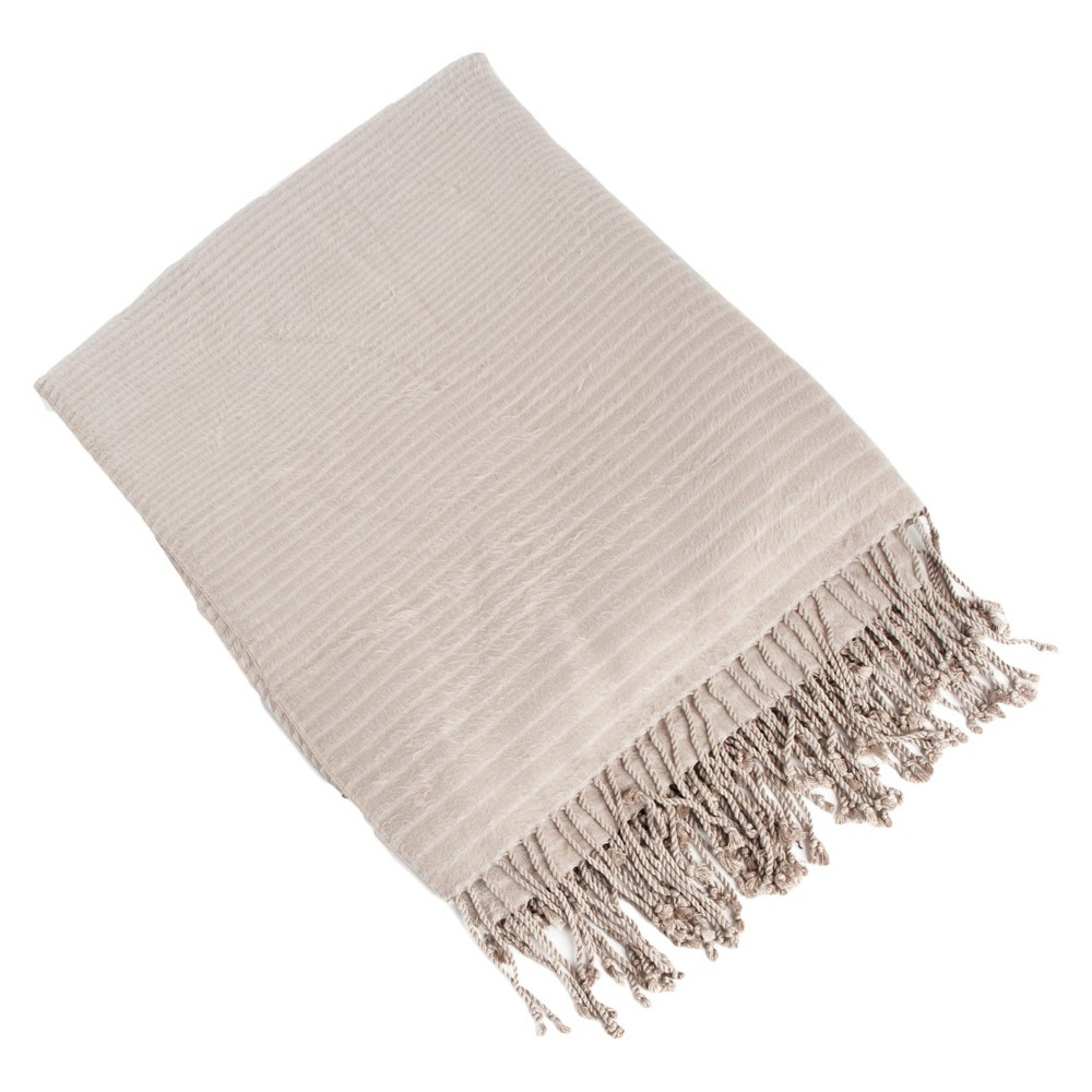 """Image of """"Natural Striped Design Rayon Made From Bamboo Throw (50""""""""X60"""""""")"""""""
