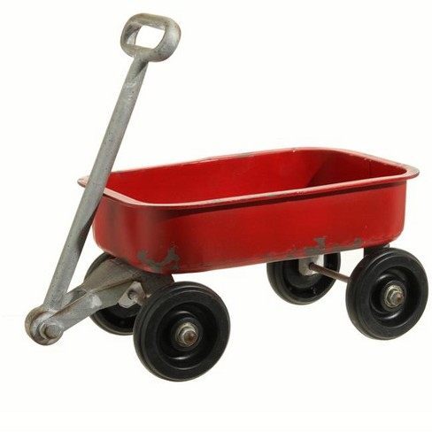 "Raz Imports 14.5"" Rustic Red and Silver Classic Wagon Decor - image 1 of 1"