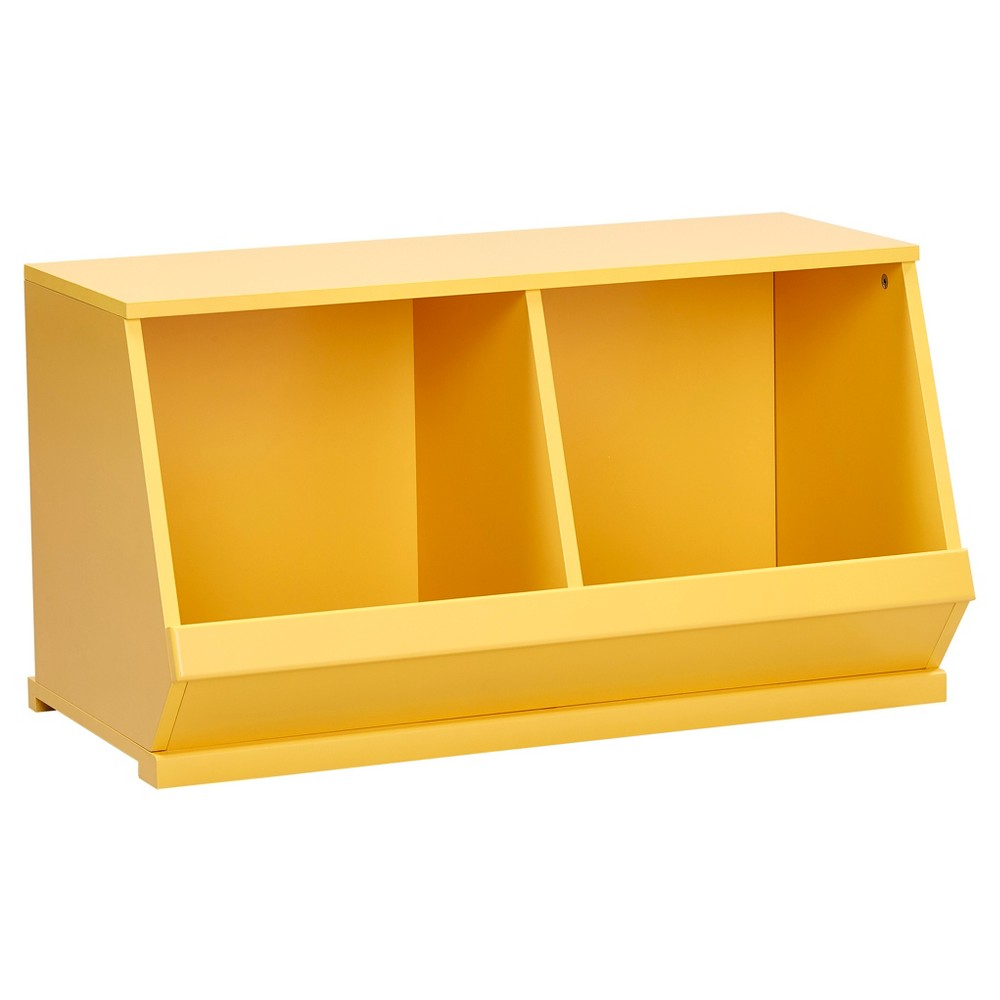 Image of Kelly Modular Stackable Double Storage Cubby - Yellow - Inspire Q
