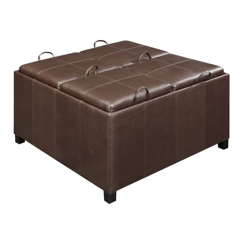 Designs4Comfort Times Square Ottoman - Convenience Concepts, Brown