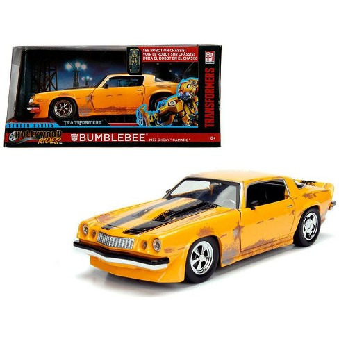 """1977 Chevrolet Camaro Concept Bumblebee Yellow from """"Transformers"""" Movie Hollywood Rides Series 1/24 Diecast Car by Jada - image 1 of 4"""