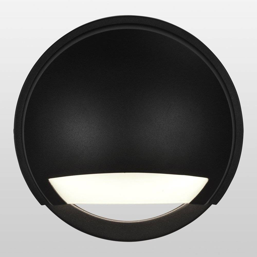 Image of Avante LED Outdoor Wall Light with Opal Glass Shade Black - Access Lighting