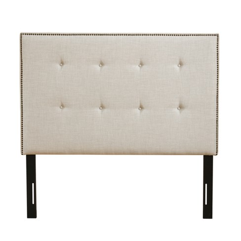 Upholstered Headboard Queen Beige - image 1 of 5