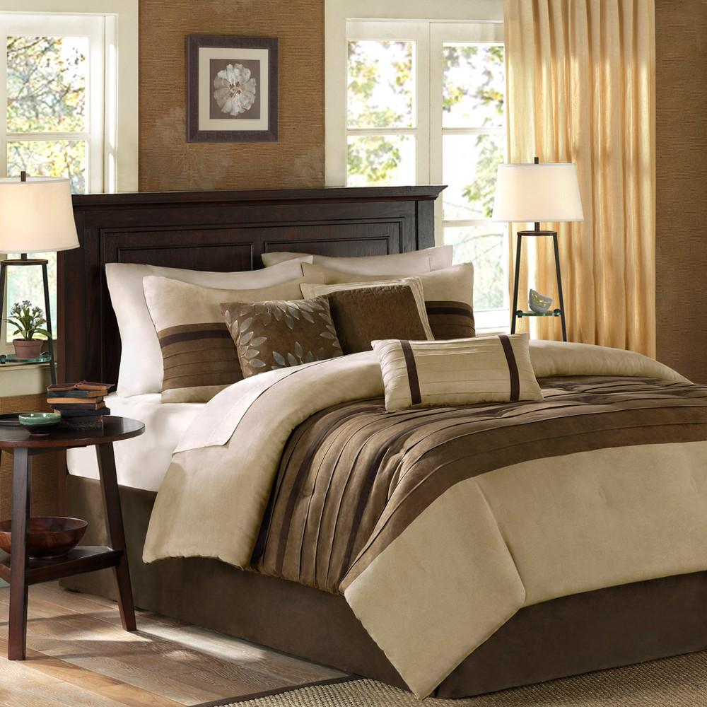 Natural Dakota Microsuede Comforter Set King 7pc 7pc