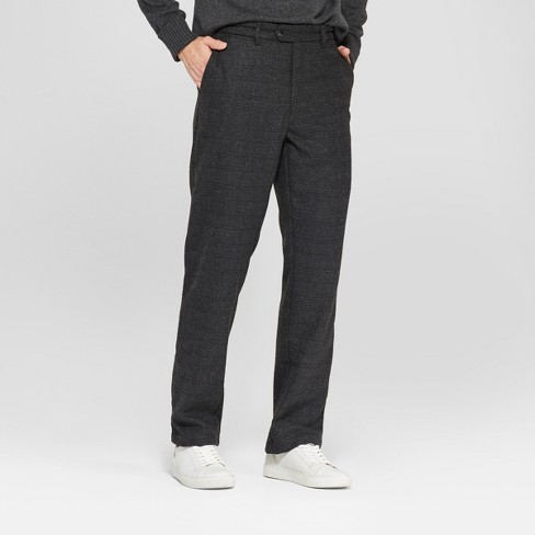 Men's Plaid Straight Fit Lightweight Trouser - Goodfellow & Co™ Zodiac Night 34x32 - image 1 of 3