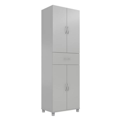 Realrooms Basin Floor Storage Cabinet Kitchen Pantry And Bathroom Organizer Dove Gray 24 Drawer Target