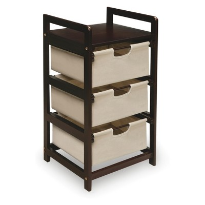 Badger Basket 3 Bin Hamper/Storage Unit Tan