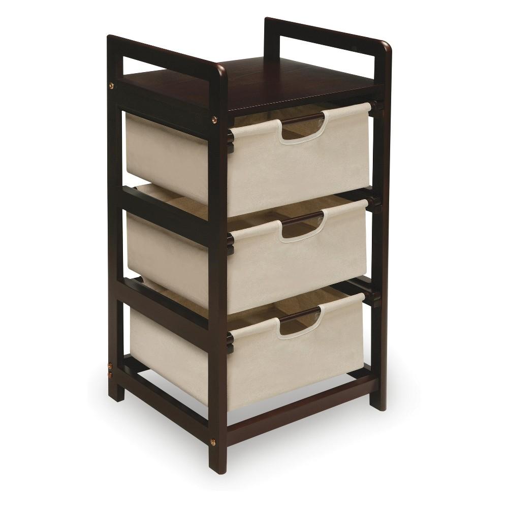 Badger Basket Three Bin Hamper/Storage Unit Tan