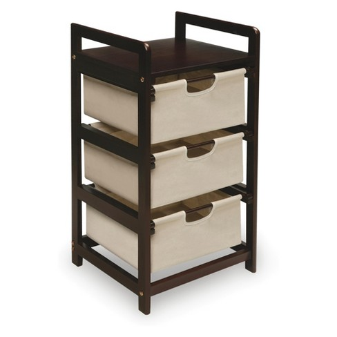 Badger Basket Three Bin Hamper/Storage Unit Tan - image 1 of 3