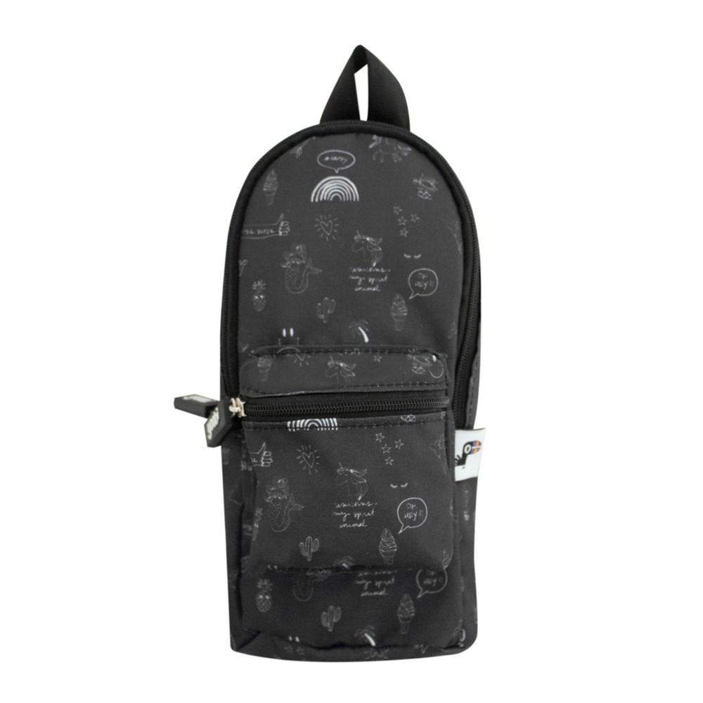 Backpack Pencil Case Black - Yoobi