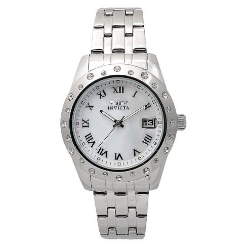 Women's Invicta 17487 Stainless Steel 'Angel' Chronograph Watch - Silver - image 1 of 3