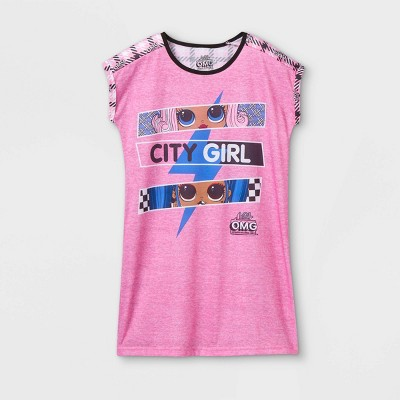 Girls' L.O.L. Surprise! OMG 'City Girl' Nightgown - Pink