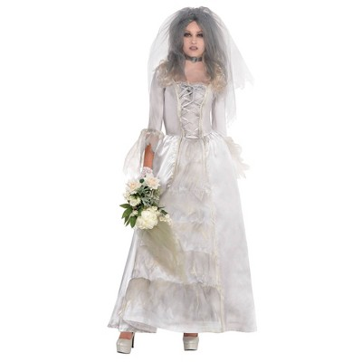Adult Ghost Bride Halloween Costume One Size